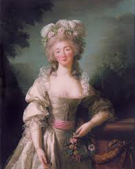 Madame du Barry, mistress of Louis XV, with highly rouged cheeks.