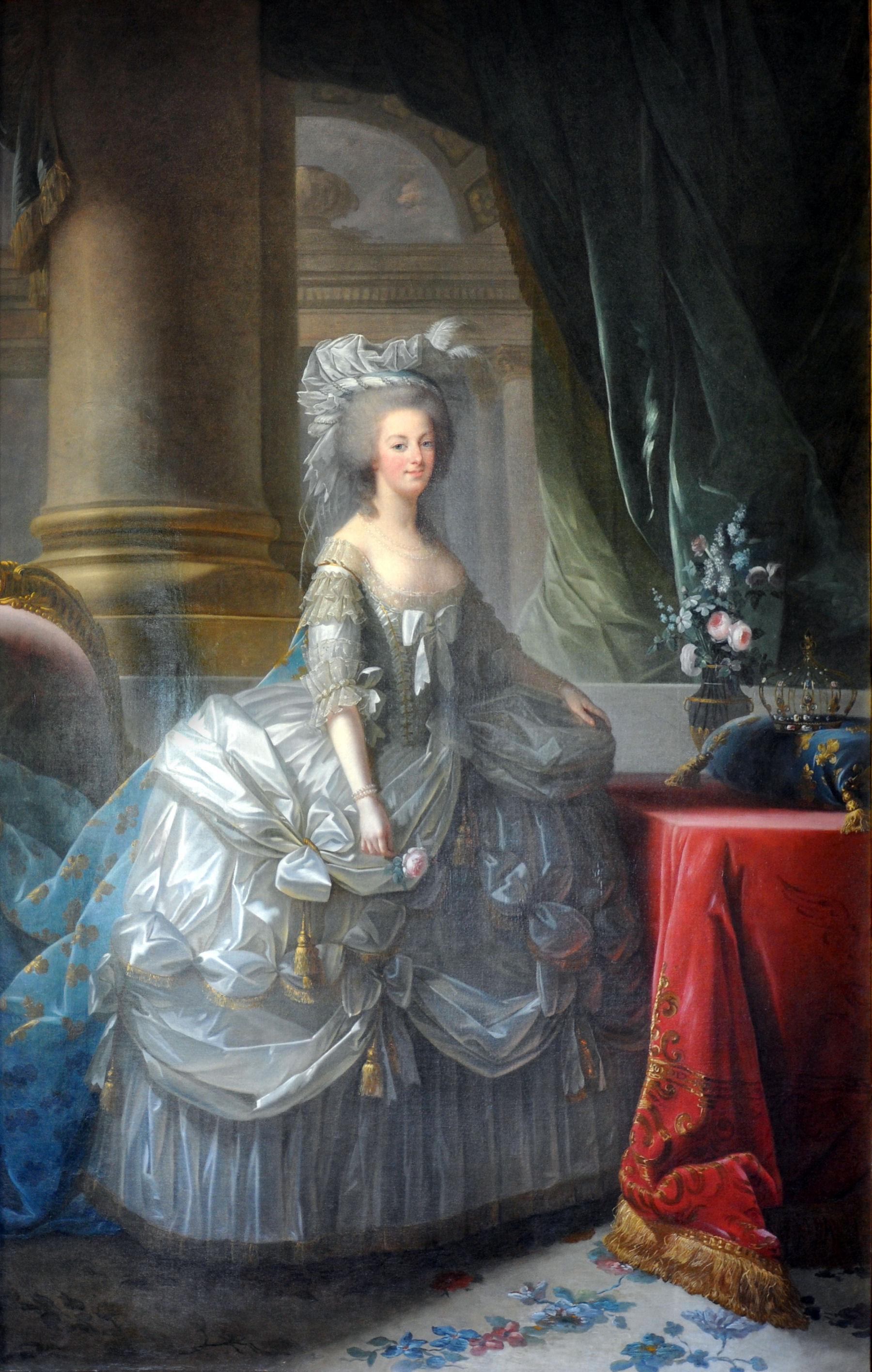 Marie Antoinette, 1779, by Élisabeth Vigée-Lebrun.