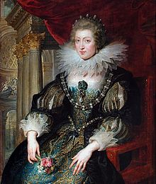 Anne of Austria. Portrait by Peter Paul Rubens c.1620s