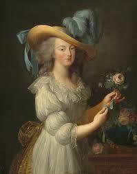 Marie-Antoinette en chemise ou en gaulle - Vers 1783