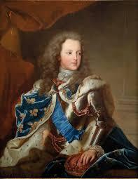 Thirteen-year-old Louis XV's coronation